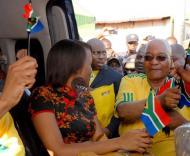 Jacob Zuma, presidente da África do Sul, a promover o Mundial