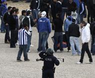 Segurança antes do jogo da Taça da Liga em Loulé (LUIS FORRA/LUSA)