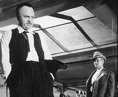 Orson Welles em «Citizen Kane»