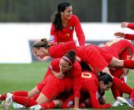 Festa da selecção feminina na goleada à Arménia (7-0)