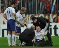 Rooney sofreu grave lesão frente ao Bayern