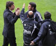 Domingos Paciência discute com o quarto árbitro Vasco Santos