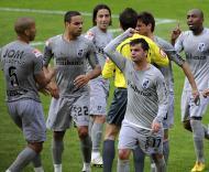 Artur Soares Dias e jogadores do V. Guimarães