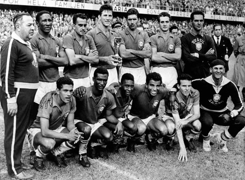 Mundial 1958: o Brasil festeja o primeiro título Mundial (foto Atlântico Press/Press Association)