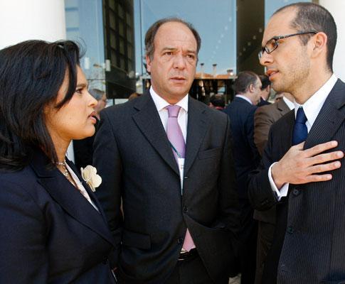 Nilza Mouzinho de Sena, Carlos Carreiras e Manuel Rodrigues - TIAGO PETINGA / LUSA
