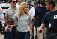 Shakira no Haiti (foto: Lusa/Epa)