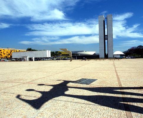 Praça dos Três Poderes (EPA/FERNANDO BIZERRA JR)
