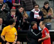 Bayern-Lyon: Robben com Van Gaal