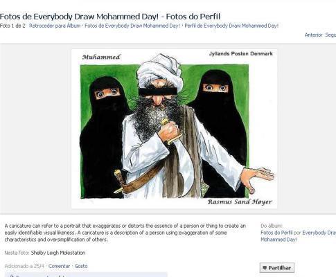 Facebook fez concurso de caricaturas de Maomé
