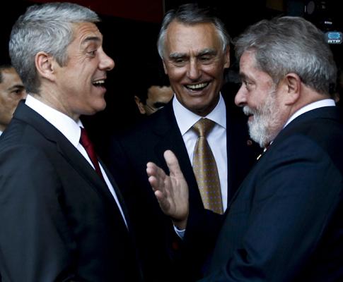 Cavaco, Sócrates e Lula da Silva