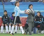Gabriel Heinze e Maradona