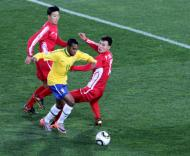 Mundial 2010: Brasil vs Coreia do Norte (EPA/JOHN HRUSA)