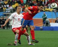 Espanha vs Suíça (EPA/DANIEL DAL ZENNARO)