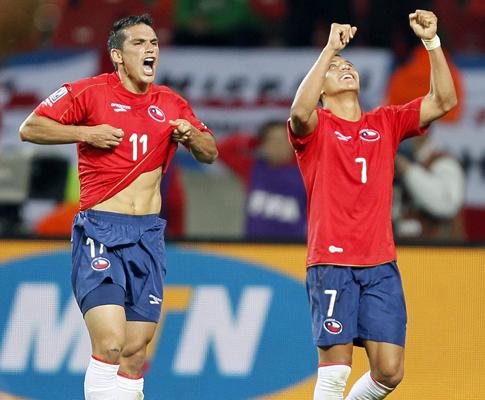 Mundial 2010: Chile vs Suiça (EPA/SERGEY DOLZHENKO)