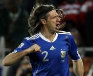 Mundial 2010: Grécia vs Argentina (EPA/JONATHAN BRADY)