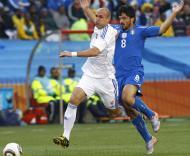 Mundial 2010: Eslováquia vs Itália (EPA/KIM LUDBROOK)