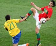 Mundial 2010: Portugal vs Brasil (EPA/HALDEN KROG)
