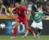 Mundial 2010: Coreia do Norte vs Costa do Marfim (EPA/AHMAD YUSNI)