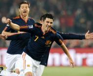 David Villa, Xavi e Xabi Alonso (Espanha)