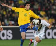 Mundial 2010: Brasil vs Chile (EPA/GEORGI LICOVSKI)