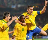 Mundial 2010: Brasil vs Chile (EPA/BERND WEISSBROD)