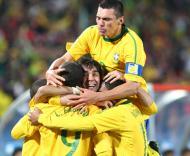 Mundial 2010: Brasil vs Chile (EPA/SRDJAN SUKI)