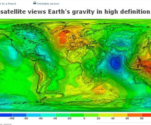 Gravidade da terra em alta definição