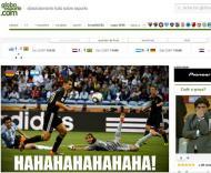 Hahahahahaha: a 1ª página da Globo online