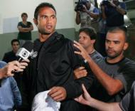 Guarda-redes brasileiro suspeito de homicídio (EPA/MARCELO PIU)