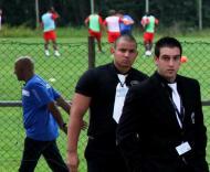 U. Leiria: seguranças no treino