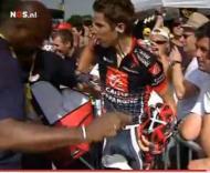 Rui Costa e ciclista espanhol trocaram agressões