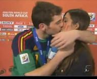 O beijo de Iker Casillas e Sara Carbonero