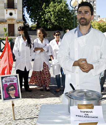 Enfermeiros em protesto (VIRGÍLIO RODRIGUES/LUSA)