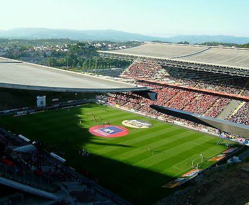 Estádio Axa, em Braga (Sp. Braga)