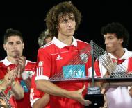 David Luiz recebeu troféu do Torneio Guadiana