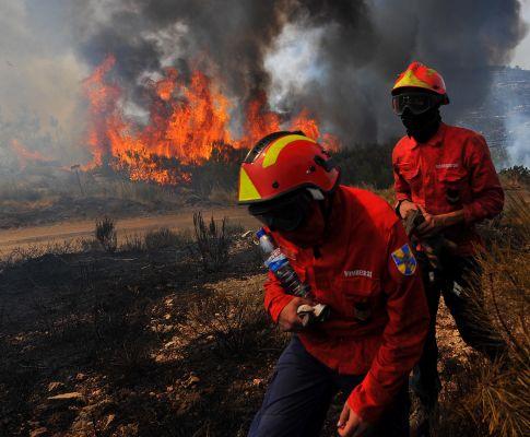 Incêndio em Tabuaço (LUSA)