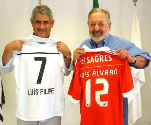 Luís Filipe Vieira no Santos (FOTO: Lusa)