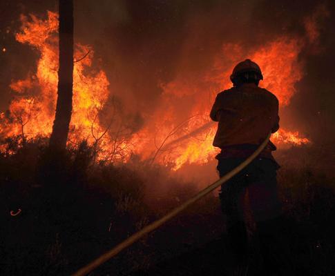 Incêndio em Castro Daire (ANDRÉ FERREIRA / LUSA)