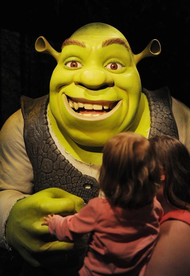 Shrek no Museu Tussauds em Berlim (Lusa)