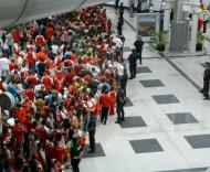 Festa do Sp. Braga no aeroporto