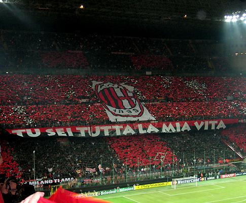 Estádio Giuseppe Meazza, em Milão (Milan e Inter)