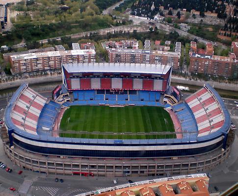 Estádio Vicente Calderón, em Madrid (At. Madrid)