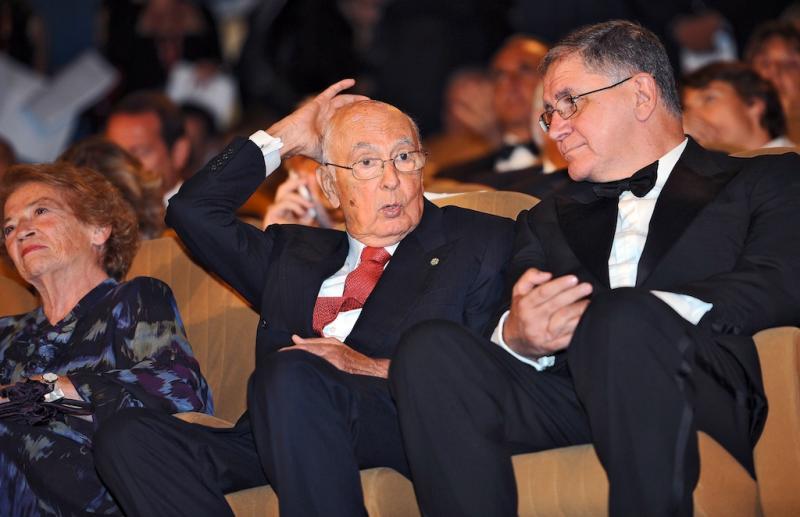 Giorgio Napolitano, Clio e Rocco Buttiglione durante o 67º Festival de Veneza - 2º dia