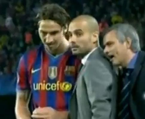 Mourinho interrompe Guardiola