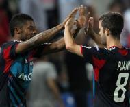 Hapoel Tel Aviv vs Olympique Lyon (EPA/OLIVER WEIKEN)