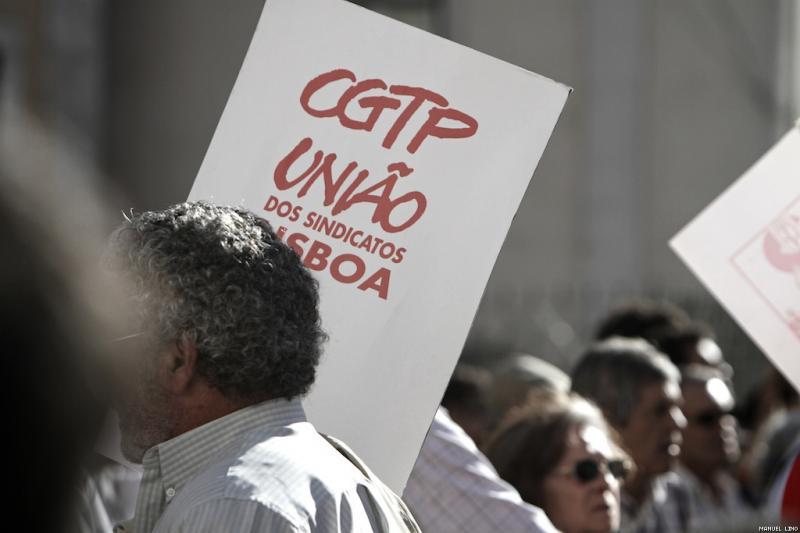 Manifestação da CGTP em Lisboa (foto: Manuel Lino)