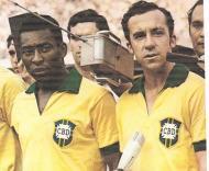 Pelé e Tostão em 70