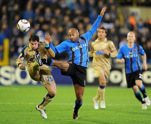 Club Brugge vs Dínamo Zagreb (EPA/Bruno Fahy/Yorick Jansens)