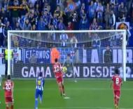 Calle (Valladolid) tenta marcar à penalty Panenka