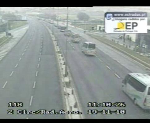 Imagem da câmara da Estradas de Portugal